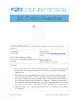 POPS Art Lesson 10 – 30 Circles Creativity Exercise