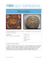 POPS Art Lesson 2 – Mandala