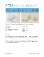 POPS Art Lesson 3 – Taking a Line for a Walk
