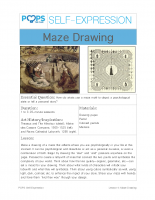 POPS Art Lesson 4 – Maze Drawing