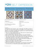 POPS Art Lesson 8 – Reflection Symmetry Pattern