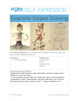 POPS Art Lesson 9 – Exquisite Corpse Drawing