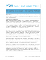 POPS Mindfulness Lesson 11 – Powerful Intentions