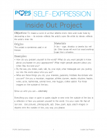 POPS Writing Lesson – Inside Out Project