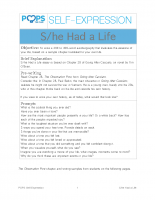 POPS Writing Lesson – S_he Had a Life