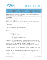 POPS Writing Lesson – Theme from English B