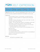 POPS Writing Lesson – Your One and Only Story