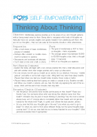POPS Mindfulness Lesson 7 – Thinking About Thinking