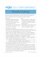 POPS Mindfulness Lesson 9 – Mindful Eating