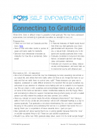 POPS Mindfulness Lesson 10 – Connecting to Gratitude